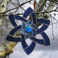 Backlit Celtic Star by CeltCraft