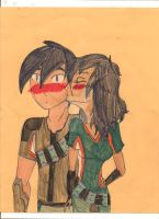 Eli and Elina A cute Kiss by JackieWinters