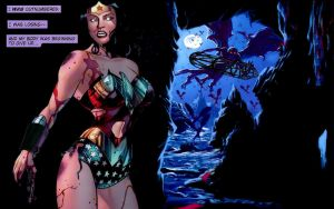 Wonder Woman, Hunted relentlessly.. by dgrart2013