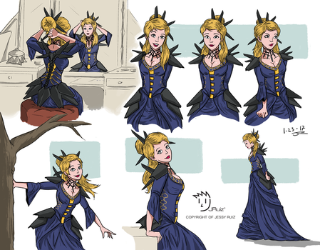 Her Ladyship Blue Studies by JessyRuiz