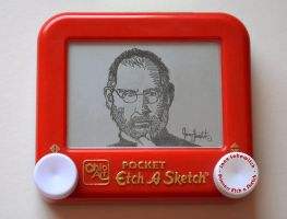 Steve Jobs Etch a Sketch by pikajane