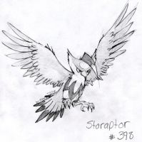 Staraptor sketch by ihavenobananas