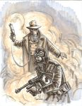 The Sandman + Lobster Johnson by TheDeviantMakepeace