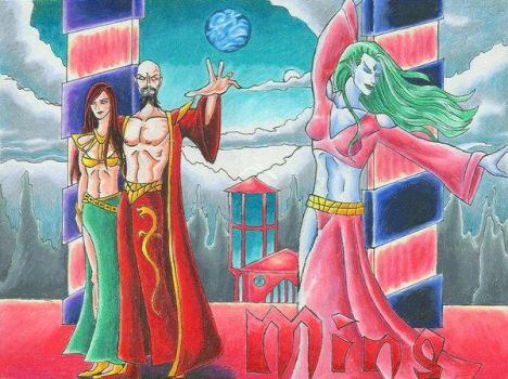 Ming the Merciless and Dale by Scifi-Fans