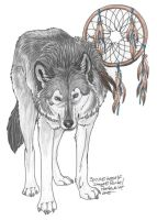 ArtTrade: SpiritWolfen by NightTracker