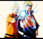 Rasengan Father and Son by IIYametaII