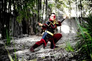 Zuko - Practicing in a Bamboo Forest by I-Artemis-I