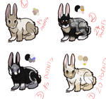 Bunny adoptable batch -ONE LEFT- by RanAdopts