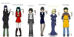E.X.P Cast Characters part 1 by YouAskMeFirst2
