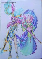 Lunar Wraith Caitlyn and River Spirit Nami by LiseWasTaken