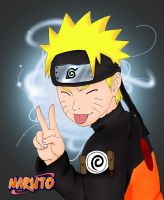 Naruto COLORED by DarkAngelOfSilence