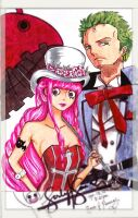 Zoro and Perona by LynGuia