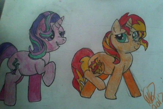 Sunset Shimmer and Starlight Glimmer by Piratecat102