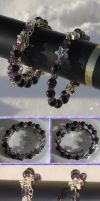 Amethyst Iolite Blue Goldstone Coil Bracelets by Windthin