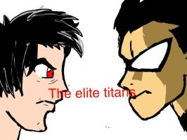 The teen titans featuring  my elite team by richard130597