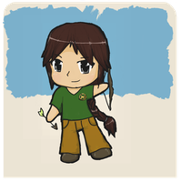 Katniss Everdeen Chibi -The Hunger Games- by firedragon47
