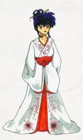 Kagome's Wedding Portrait by theamberdragonfly