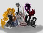 Group of my Oc coloring by Hold-Your-Fire