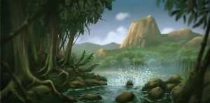 Jungle Landscape by Maarchal