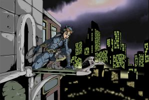 Catwoman over Gotham by UndeadComics