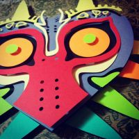 Majora's Mask PaperCut by smallrinilady