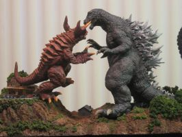 Godzilla VS Baragon WK 2 by Legrandzilla