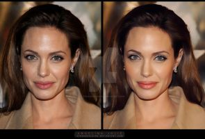 Retouch: Angelina Jolie by StrangeClaire