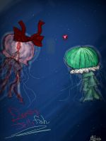 dressy jelly fish by Blackfeather133