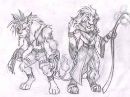 Kingdom hearts 2 TLK anthro 2 by alphaleo14