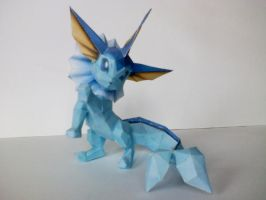Vaporeon papercraft by WeirdaMirrart