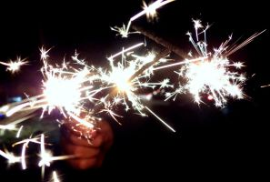 Sparklers by Aroha-Photography