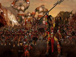 Nearly dead: Giant Empire army by mayajid