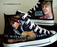 justin bieber -hand painted by alcat2021