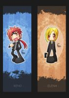Bookmark-Reno and Elena by Ching13