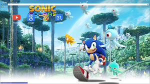 Sonic Colors Chrome Theme (1920x1080) by Natakiro