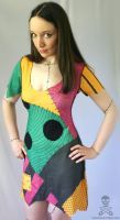 Nightmare Before Christmas Sally ragdoll dress by smarmy-clothes