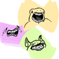 mouths and weird creatures...!!!!! by discordianDenial