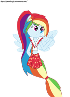 Rainbow Rocks Rainbow Dash (colored) by sparkle-fly