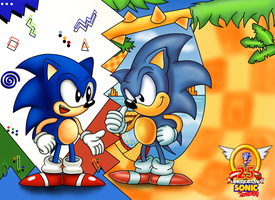 Mega Drive and Genesis Sonic 25th Anniversary by ClassicSonicSatAm