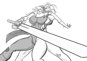 Chun Li Grapples with Delta Red's Lt. Lita Luwanda by satoopid