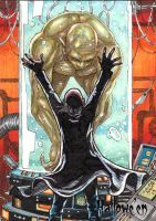 HALLOWE'EN - Mad scientist and monster  sketchcard by JASONS21
