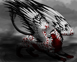 Storm Gryphon by graphiteforlunch