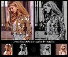 Great Black and White Action by perelka880