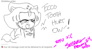 .:Ecco:. Tooth Hurt Ow by SEGAMew