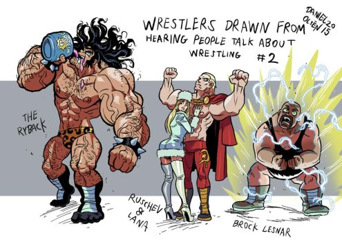 Imagining Wrestlers 2 by weremole