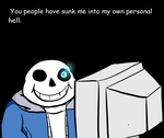Sans looks at the NSFW fanart of Undertale by Lord-Hugenot