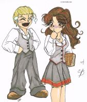 Bwahahaha: Draco and Hermione by EditorDee