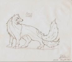 Aero in Wolf Form by haseodragon