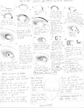 Realistic Eye step by step by manic-goose