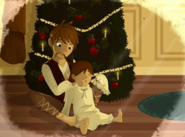 RotG - Christmas Eve at the Overland's Home by PearlOFJoy